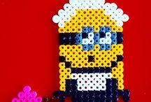 Minions in beads / Do you like minions??? Craft your minion whit beads. It's so fun.