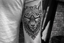 man tattoo hand