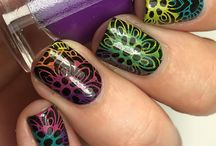 Rainbow Cremes - Stamping Polishes / Blogger and fan swatches