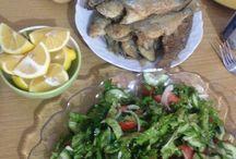 Fish-BALIK / Fish and salad at home handmade