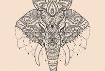 Indische Elefanten Tattoos
