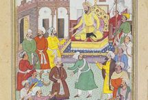 Emir Timur or Tamerlane / A great conquerer / a military genius, founder of the Timurid empire in Persia and central asia (1370-1405), born  April 8th 1336 in  Transoxiana (today Uzbekistan.  The power of Timurids declined during the 2nd half  of the 15th century.