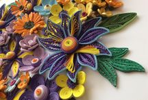 Quilling flowers/pictures by Georgia Mavropoulou