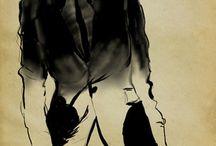 fashion ilustration / rysunek żurnalowy