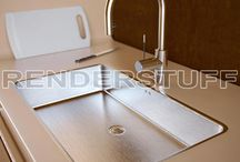 Modern Kitchen Sink With Faucet 3d Model