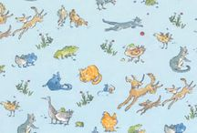 Kids Fabrics and Wallpapers / My grandsons got me searching for juvenile fabrics. http://faithsheridan.com
