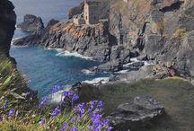 Places / les endroits / Cornwall because I grew up there and because it is beautiful. The other titles are self-explanatory / les Cornouailles car j'y ai grandi et parce que c'est beau. Le titre des autres tableaux explique tout