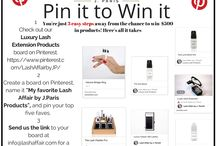 Pin it to Win it / 3 easy steps to Win $500 in Lash Affair Products!