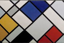 Theo Van Doesburg / Theo van Doesburg, who worked in disciplines within art, design and text, founded the far-reaching movement and magazine De Stijl. This artistic movement of painters, architects and designers sought to build a new society in the aftermath of World War I, advocating an international style of art and design based on a strict geometry of horizontals and verticals.