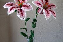 Korálky květiny