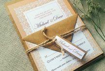 Wedding Invitations / Wedding, Bridal Shower, Baby Shower