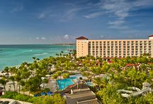 Client - Hyatt Aruba / Sights and scenes from the luxurious beachfront hotel in Palm Beach, Aruba where the Caribbean Sea, white sand beaches, and sunny weather make for a blissful and exquisite tropical vacation.