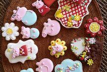 Cookies e cupcakes Peppa Pig / Delicias com tema Peppa Pig