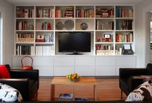 Bookshelf with tv