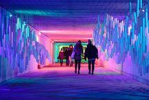 Light, projection, installation
