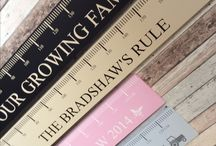Growing Family Rules Collection / These large and small height chart rules defiantly measure up