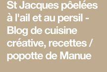 St Jacques poelees au beurre et Persil (Manu)