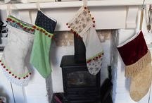 Ho Ho Ho! Vintage Stockings made from Gorgeous Vintage Fabrics!