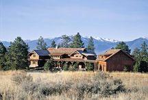 Log & Timber Frame Style Home Exterior