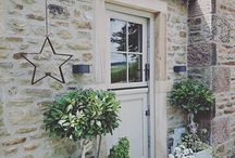 Country stone houses- exterior colours- windows and guttering