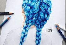 Hairstyles drawing