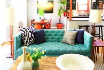 Home Decor - Living Rooms & Details / A collection of colorful, comfortable, and inspiring living spaces. / by Fabric Paper Glue