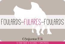 FULARES-FOULARDS / Abrígate o simplemente dale a tu atuendo un toque muy chic con nuestros fulares. Muchísimos modelos ideales en www.conjuntados.com