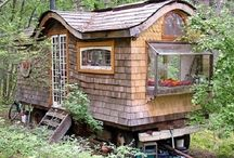 Tiny Sustainable / A board featuring tiny dwellings and living spaces