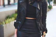 chaqueta de cuero negro