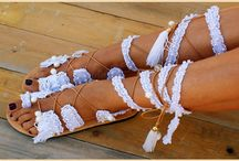 beach wedding sandals/ lace up sandals/ tie up sandals/ bridal sandals/ magosisters