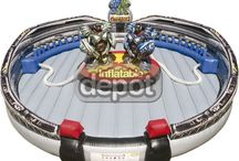 Hinchable profesional Airbot / Hinchable profesional Airbot, incluye pista hinchable y trajes