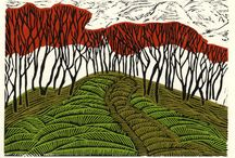 linocuts, woodcuts