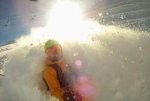POWDER Snowboard / Hintertux, glacier, Austrian Alps #Powder #Snowboarding
