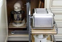 Organized kitchen for toaster,food processer