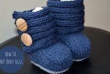 Knitted bootie