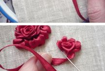 Ribbon rose Tutorial Embroidery