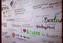 The BizarroFM Wall