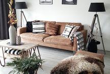 Cognac Living room