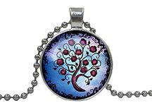 Round Glass Pendant Necklace Discount
