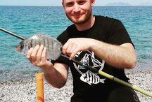 pesca dalla spiaggia.