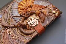 Polymer clay journal covers