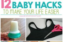 Baby Hacks / It takes a village to raise a child. That's for sure! And We ALL NEED HELP! Hopefully moms and pops can find useful tools and ideas within this board to help make their baby raising years much easier.