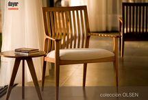 LINEA OLSEN - diseñada para DAYER SILLAS / Linea de asientos de madera maciza, diseñados por ESTUDIO ARN+SALUM para DAYER SILLAS