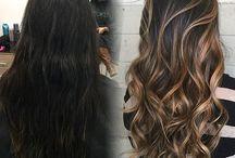 balayage hair dark