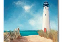 Lighthouse small canvas