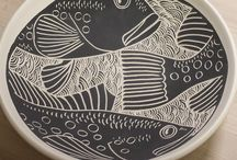 Sgraffito Plates and Platters