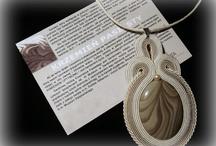 Mój soutache / Biżuteria wykonana technika haftu soutache.