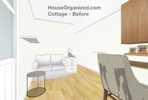 Cottage Style (CLIENT BOARD) / Re-designing a tiny cottage, opening the rooms, and creating a welcome (more organized) environment. / by HouseOrganized