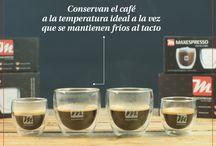 Maxespresso Gourmet Coffee accessories / Accesorios Maxespresso Gourmet Coffee / Set de 2 vasos de 100 ml con Doble Pared de Vidrio / Set de 2 tazas para Lungo o Ristretto, de porcelana esmaltada / Set de 2 tazas para Lungo o Espresso de vidrio   Set of 2 cups of 100ml. Double glass wall / Set of 2 cups for Lungo or Ristretto, of high range enamel porcelain / Set of 2 cups for Lungo or Espresso of high resistance tempered glass