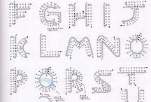 Letras de ganchillo
